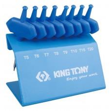 Jogo De Mini Chave Torx Tipo T Com 8 Peças T5 a T20  23308PR -  King Tony