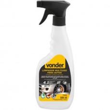 Limpador multiuso para autos, tipo pulverizador, 4 em 1, biodegradável, 500 ml, VONDER