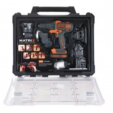Kit Ferramenta Combinada 6 Em 1 Matrix 20v c/ 2 baterias - BlackDecker - Bdcdm6kitc-BR